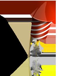 ロケットフリーアイコン