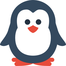 penguin icon flat